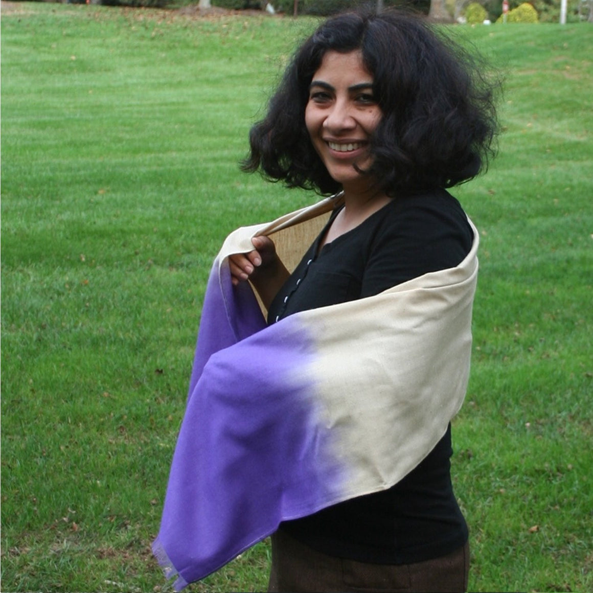 Peace Silk: Lilac Ombre Scarves by Sustainable Threads