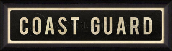 80103 BC Coast Guard Street Sign Framed Art
