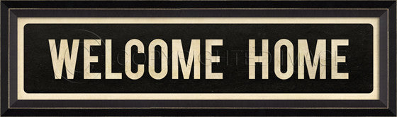 80194 BC Welcome Home Street Sign Framed Art