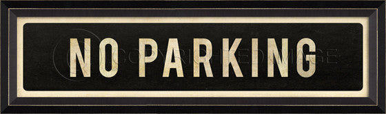 80213 BC No Parking Street Sign Framed Art