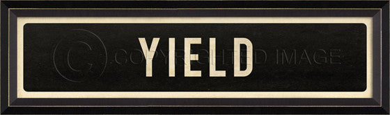 80218 BC Yield Street Sign Framed Art