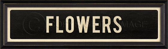 80220 BC Flowers Street Sign Framed Art