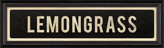 80232 BC Lemongrass Street Sign Framed Art