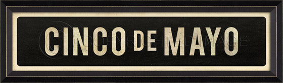 80279 BC Cinco De Mayo Street Sign Framed Art