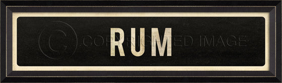 80427 BC Rum Street Sign Framed Art