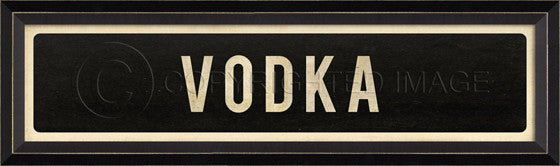 80453 BC Vodka Street Sign Framed Art