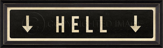 80459 BC Hell Street Sign Framed Art