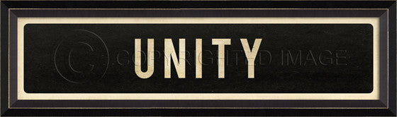 80477 BC Unity Street Sign Framed Art