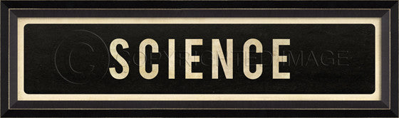 80514 BC Science Street Sign Framed Art