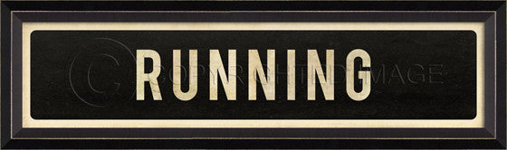 80538 BC Running Street Sign Framed Art