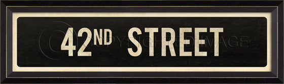 80553 BC 42nd Street Sign Framed Art