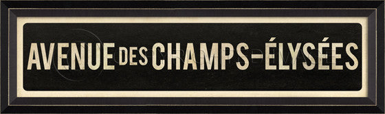 80555 BC Avenue Des Champs Elysees Street Sign Framed Art
