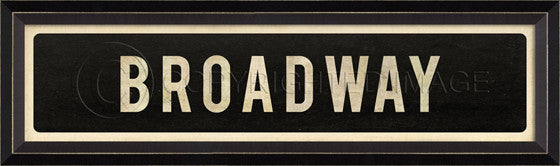 80559 BC Broadway Street Sign Framed Art