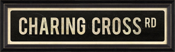 80562 BC Charing Cross Rd Street Sign Framed Art
