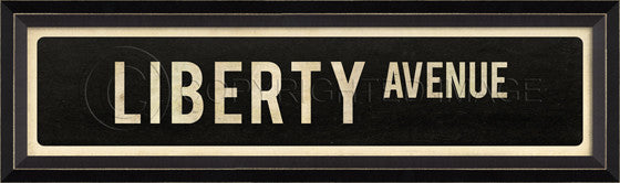 80566 BC Liberty Avenue Street Sign Framed Art