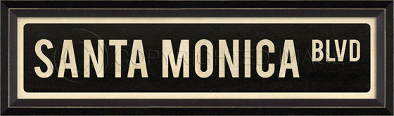 80578 BC Santa Monica Boulevard Street Sign Framed Art