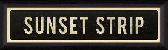 80579 BC Sunset Strip Street Sign Framed Art