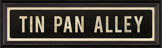 80581 BC Tin Pan Alley Street Sign Framed Art