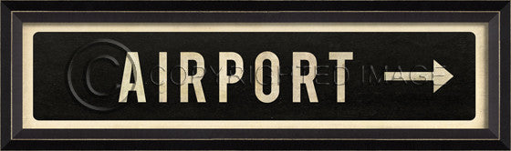 80588 BC Airport/Right Street Sign Framed Art
