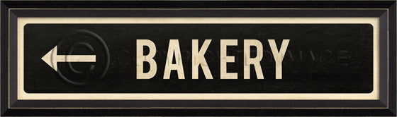 80597 BC Bakery Left Street Sign Framed Art