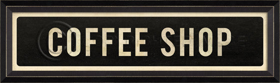 80609 BC Coffee Shop Street Sign Framed Art