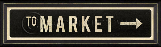 8065615 BC To Market Right Street Sign Framed Art