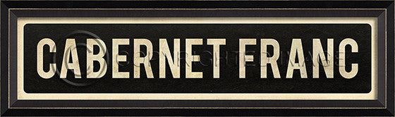 80839 BC Cabernet Franc Street Sign Framed Art