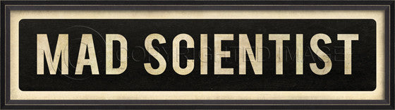 81002 BC Mad Scientist Framed Art