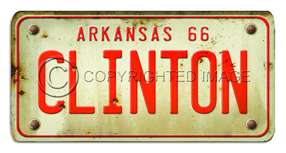 81097 Arkansas License Plate CLINTON Framed Art