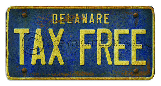 81101 Delaware License Plate TAX FREE Framed Art