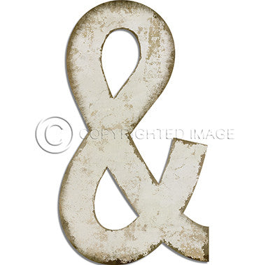 Ampersand White Cutout Framed Art