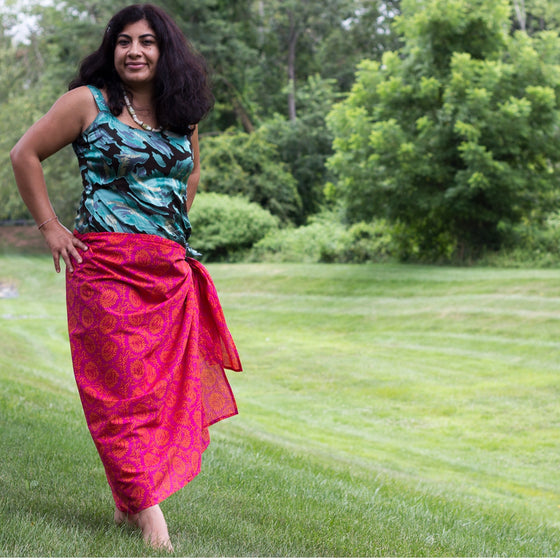 Sangria Sarong by Sustainable Threads
