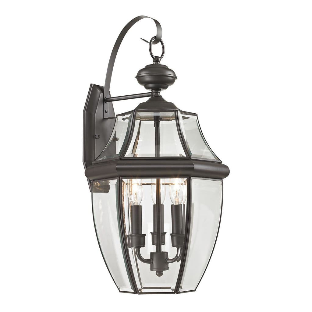 Ashford 3 Light Exterior Coach Lantern In Oil Rubbed Bronze 8603EW/75 by Thomas Lighting