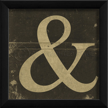 Ampersand Framed Art
