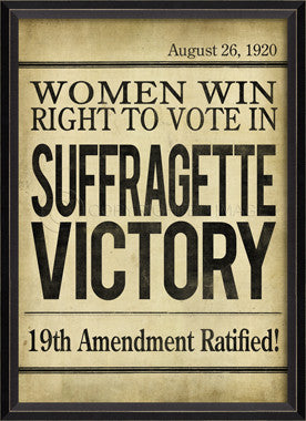 88868 BC Suffragette Victory Headline Framed Art