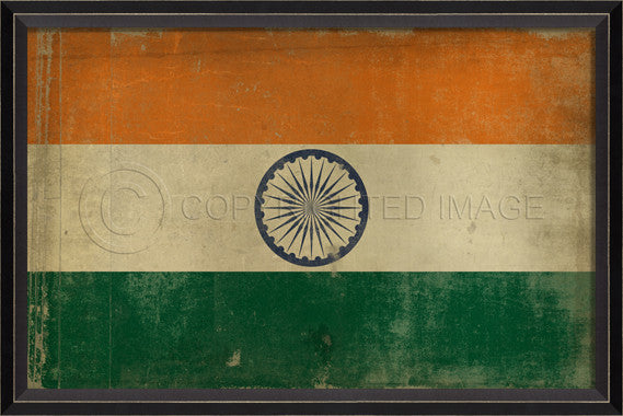 88911 BC India Flag Framed Art