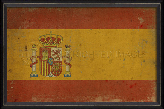 88917 BC Spanish Flag Framed Art