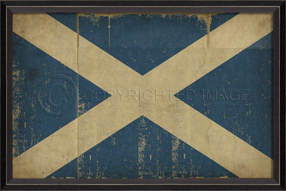 88930 BC Scottish Flag Framed Art