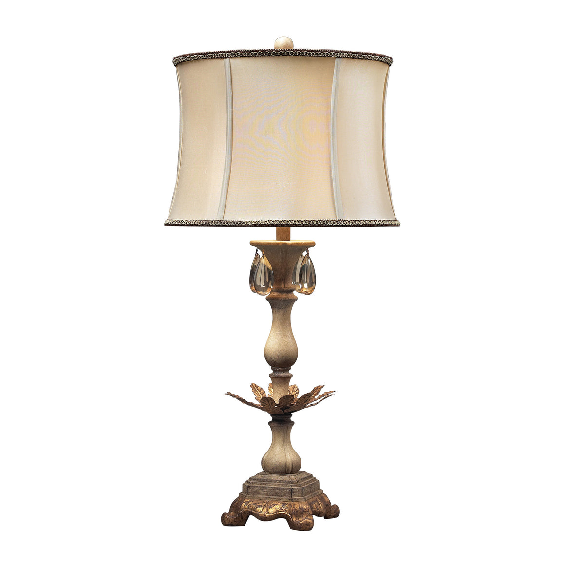 Accent Lamp In Cream And Soft Gold 93-10023