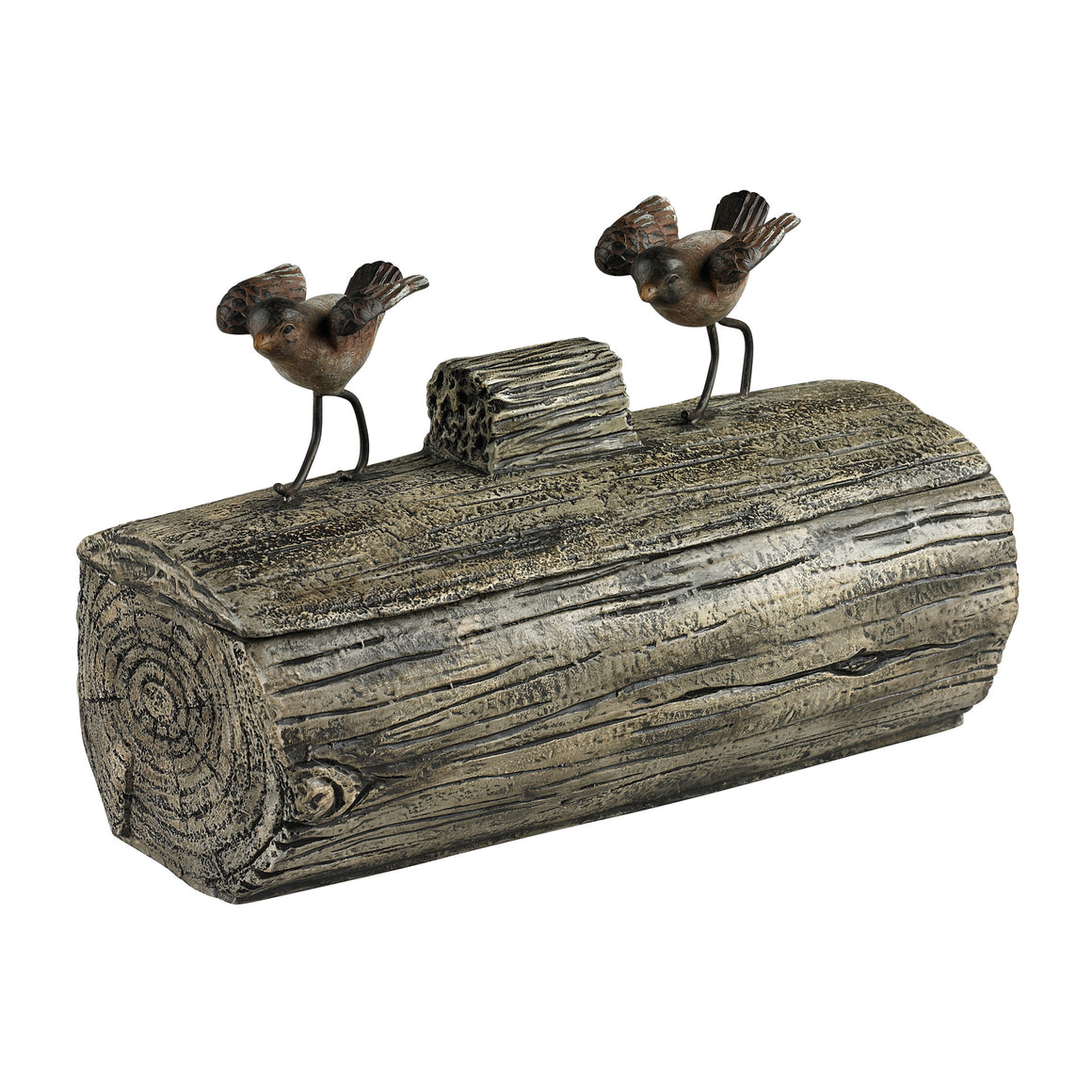 Little Birds On A Log Box by Sterling
