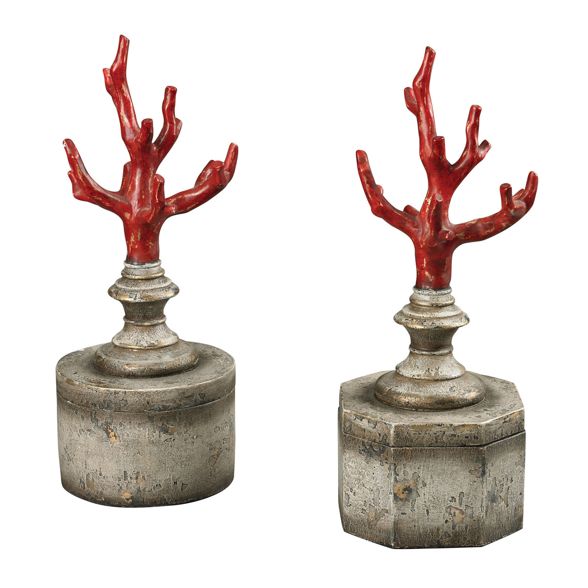 Fire Coral Keepsake Boxes by Sterling