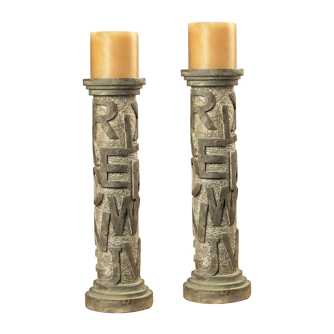 Alphabet Table Candleholders by Sterling
