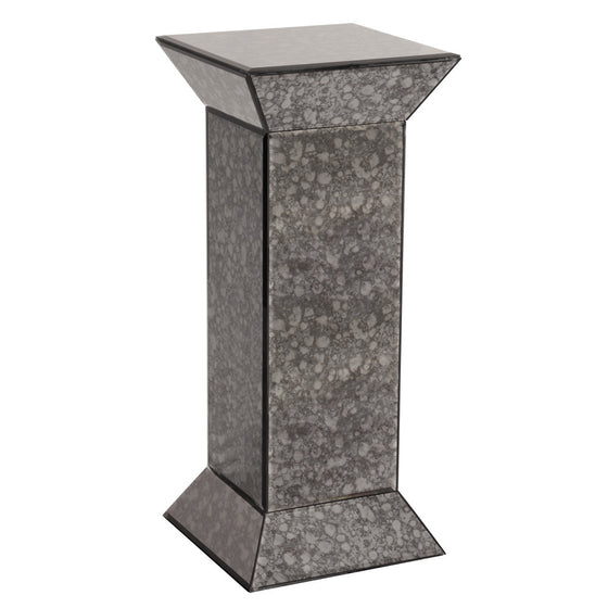 Atlas gray Antiqued Mirrored Pedestal 99005 by Howard Elliott