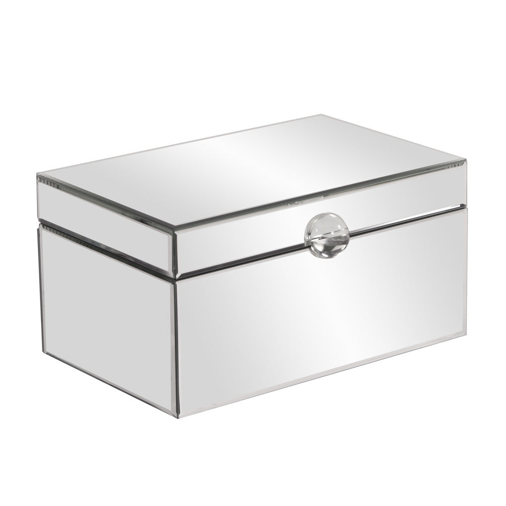 Clear Mirrored Decorative Box with Acrylic Handle - Small 99036 by Howard Elliott