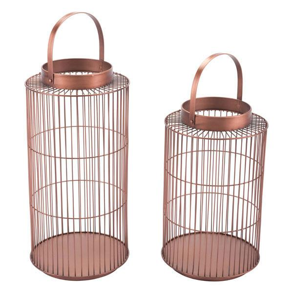 Set of 2 Metal Lanterns
