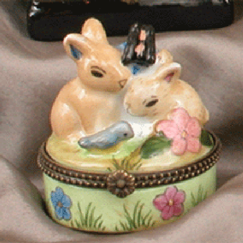 Twin Bunnies (Set of 6) by Oriental Danny