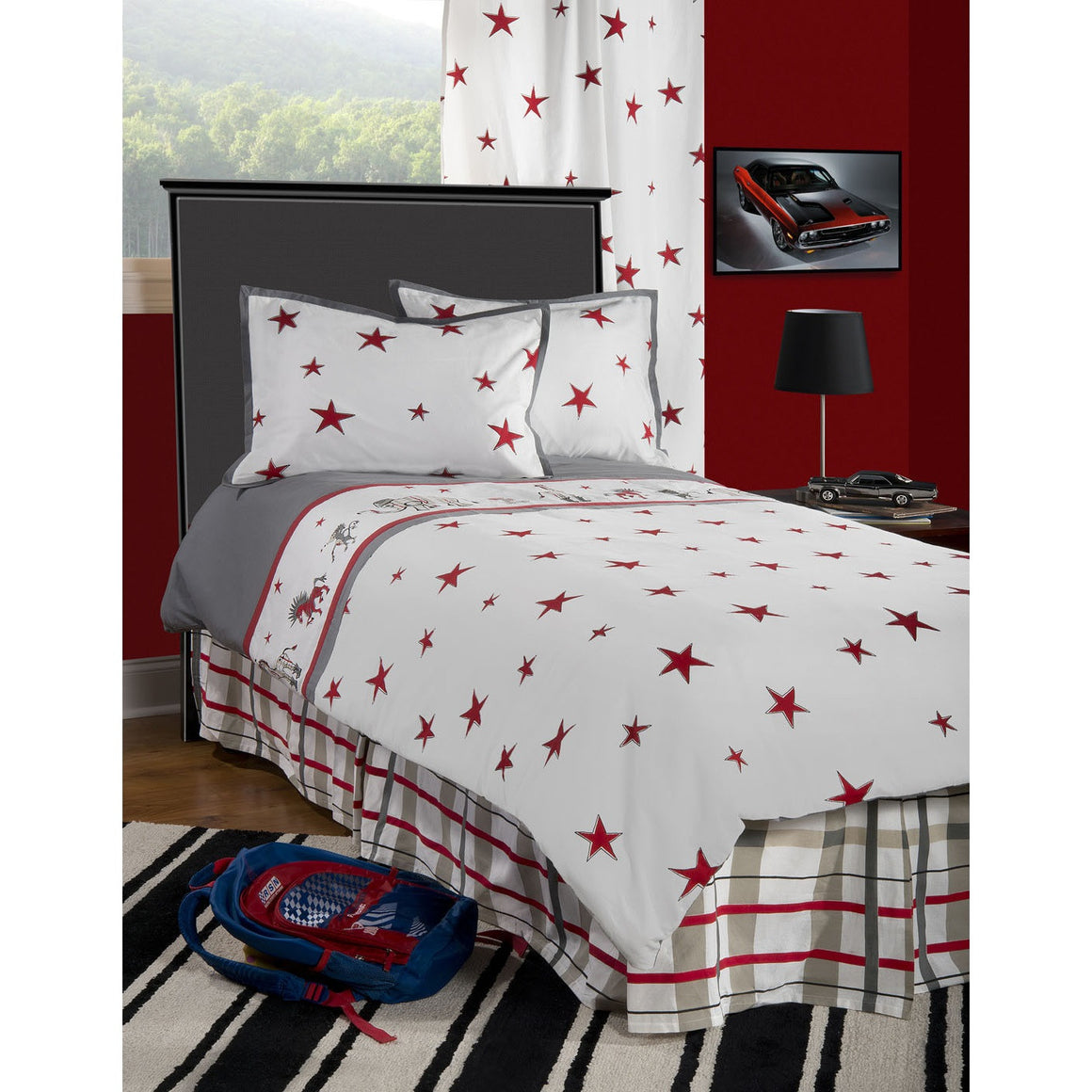 Boys Punk Animal Stars Comforter Bed Set BT1489