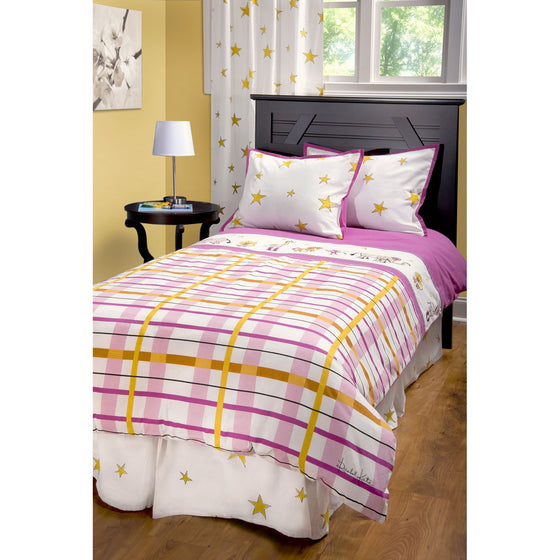 Girls Punk Animal Stars Comforter Bed Set BT1490