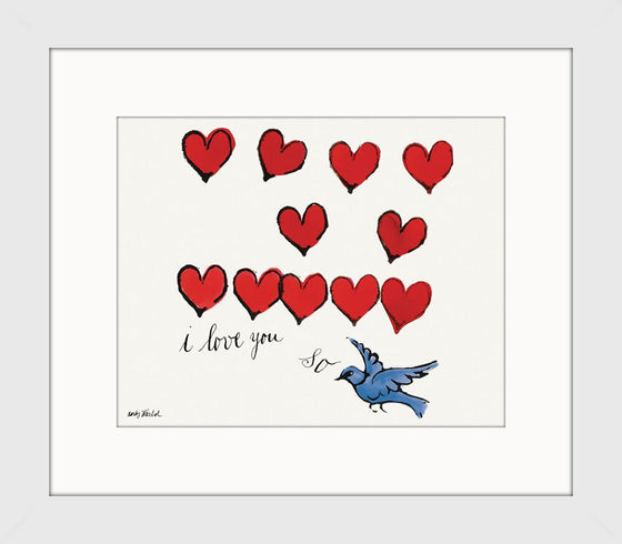 DC28019 I Love You - Andy Warhol Framed Art