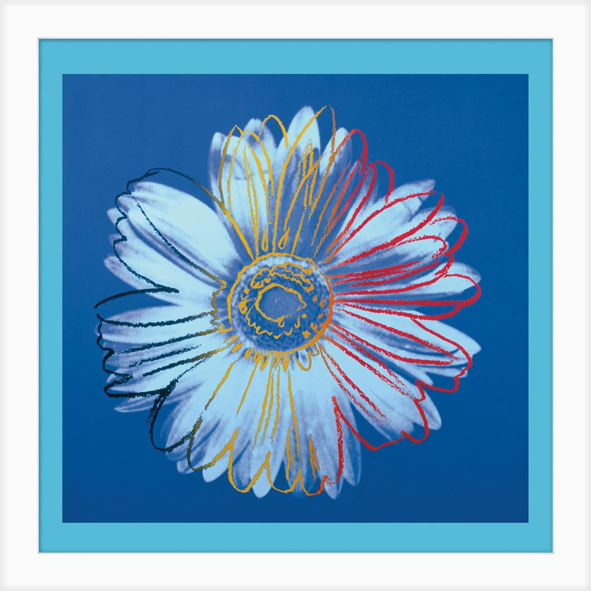 DC28043 Daisy Blue on Blue Framed Art - Plum 28
